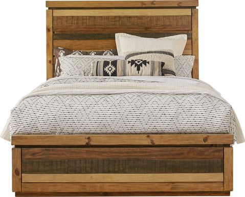 Cindy Crawford Home Westover Hills Brown 3 Pc Queen Panel Bed