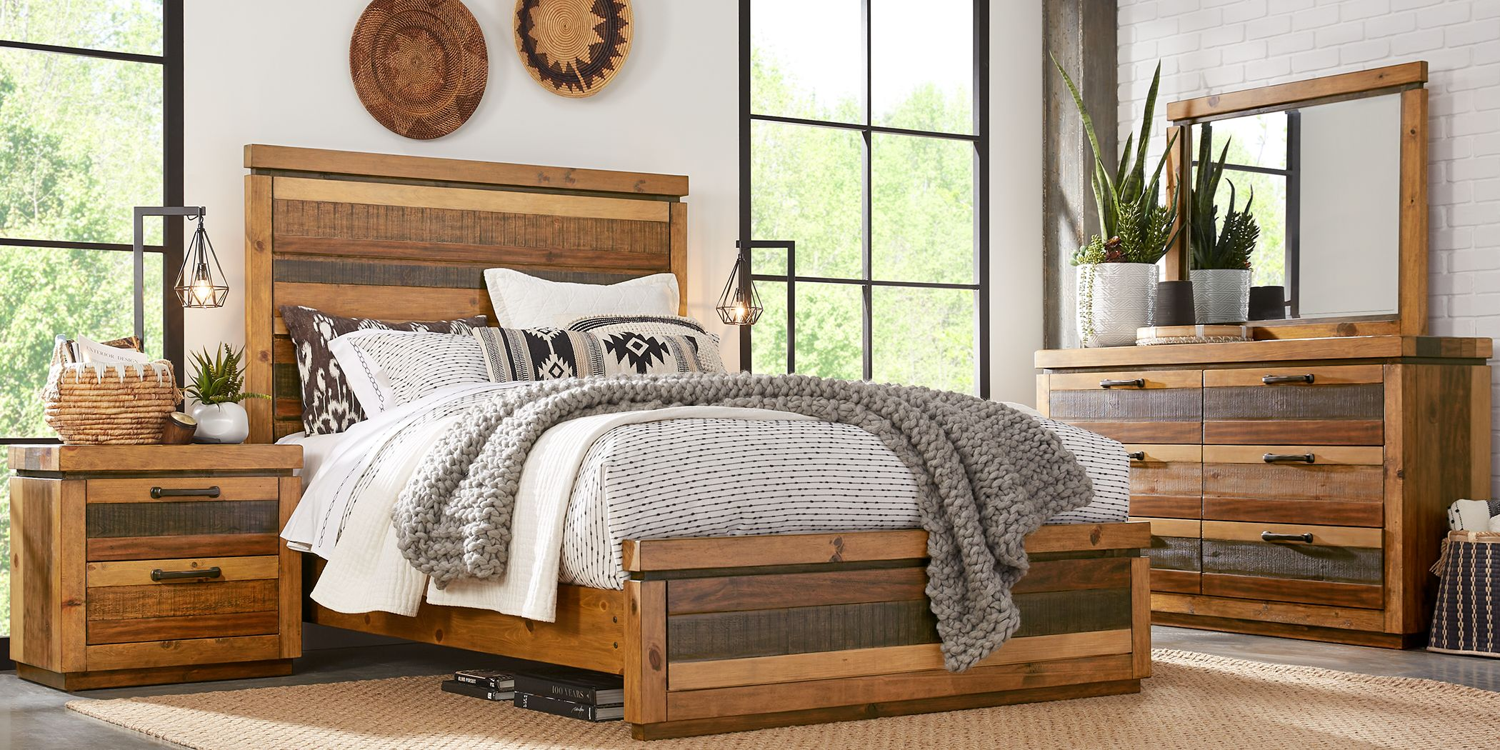 Cindy Crawford Home Westover Hills Brown 5 Pc King Panel Bedroom