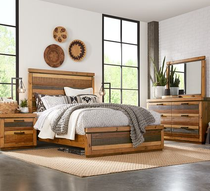 Cindy Crawford Home Westover Hills Brown 5 Pc Queen Panel Bedroom