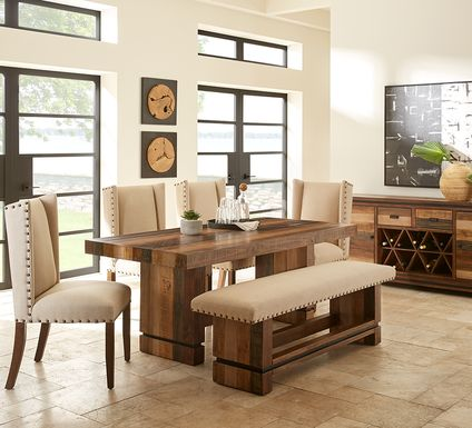 Cindy Crawford Home Westover Hills Brown 5 Pc Rectangle Dining Room