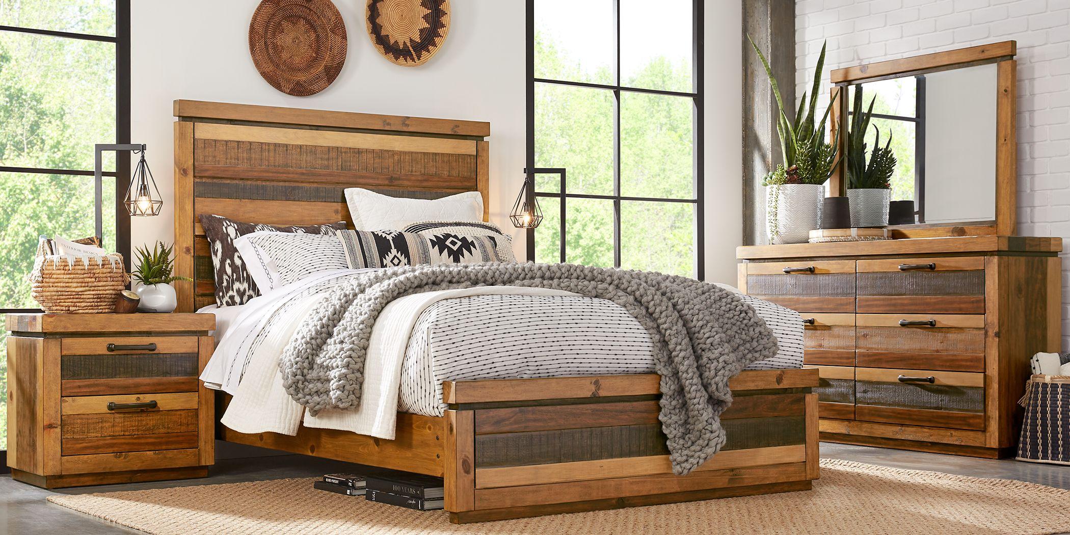 Cindy Crawford Home Westover Hills Brown 7 Pc Queen Panel Bedroom