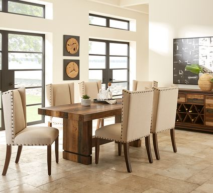 Cindy Crawford Home Westover Hills Brown 7 Pc Rectangle Dining Room