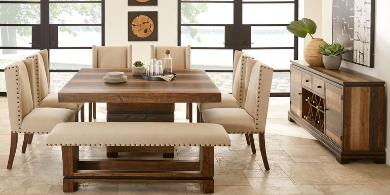 Cindy Crawford Home Westover Hills Brown 8 Pc Square Dining Room