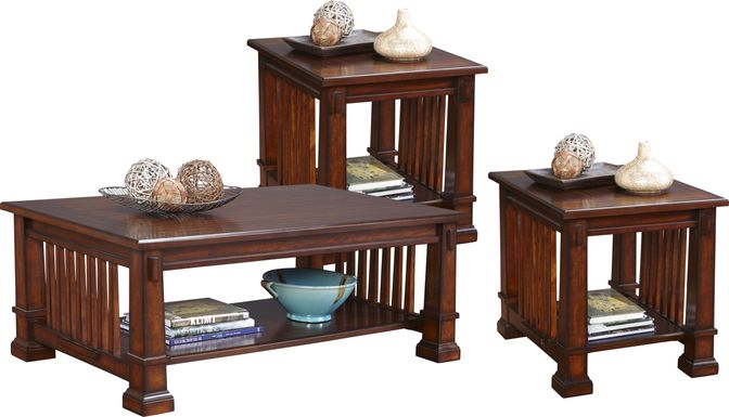 Clairfield Tobacco 3 Pc Table Set