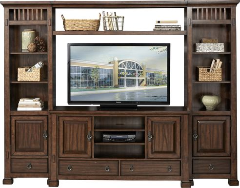 Clairfield Tobacco 4 Pc Wall Unit