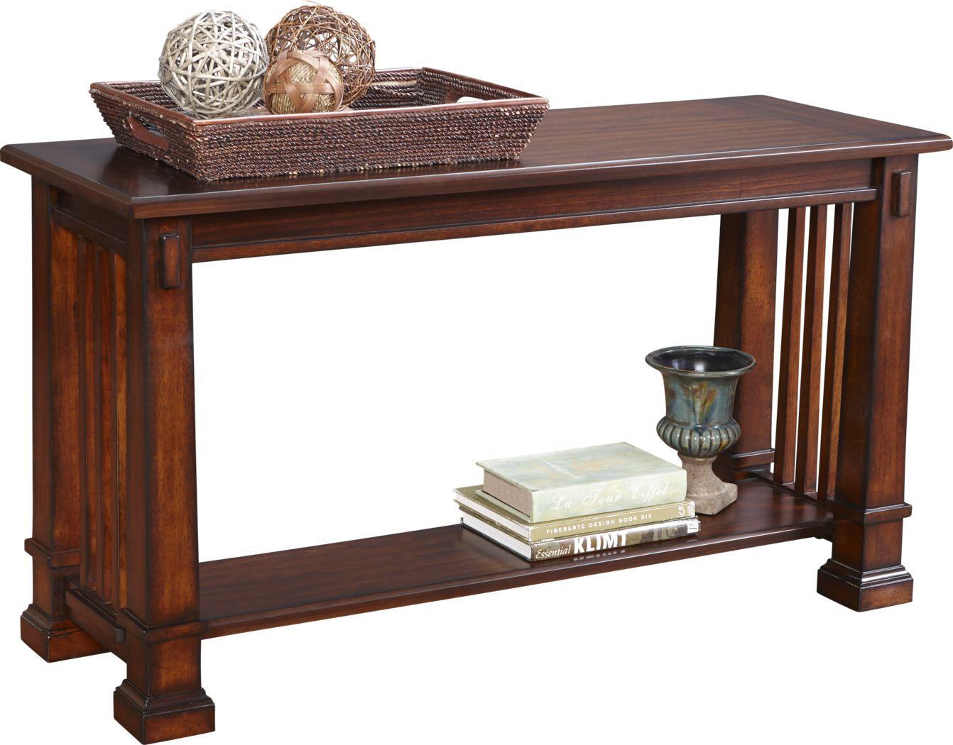 Clairfield Tobacco Sofa Table