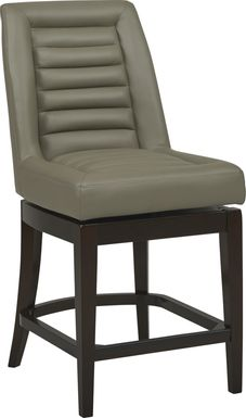 Clairmont Heights Gray Counter Height Swivel Stool