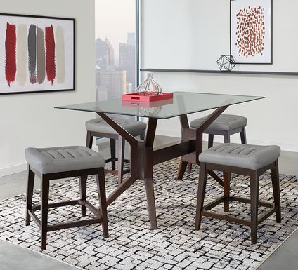 Clairmont Heights Merlot 5 Pc Rectangular Counter Height Dining Room