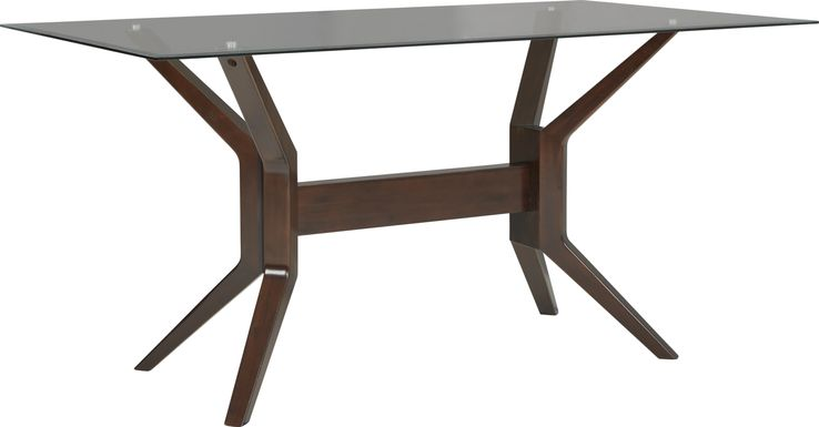 Clairmont Heights Merlot Glass Top Counter Height Dining Table