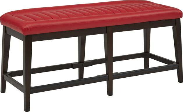 Clairmont Heights Red Counter Height Bench