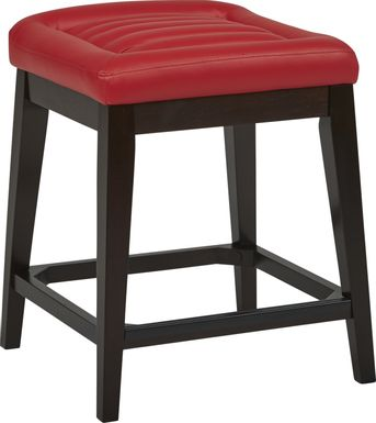 Clairmont Heights Red Counter Height Kyoto Stool