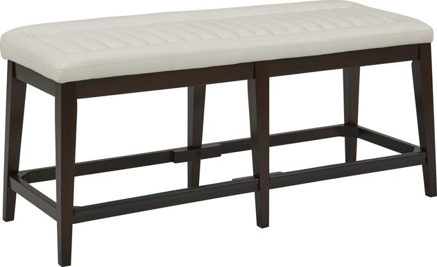 Clairmont Heights White Counter Height Bench