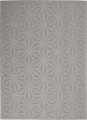Clarene Light Gray 8' x 10' Indoor/Outdoor Rug