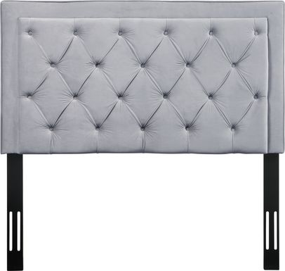 Clarette Gray Twin Upholstered Headboard