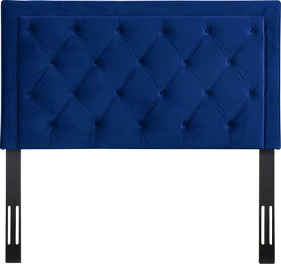 Clarette Navy Full Upholstered Headboard