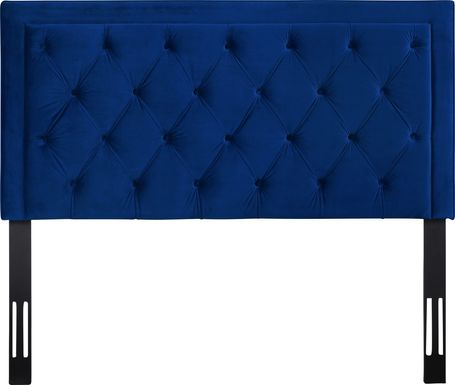 Clarette Navy King Upholstered Headboard