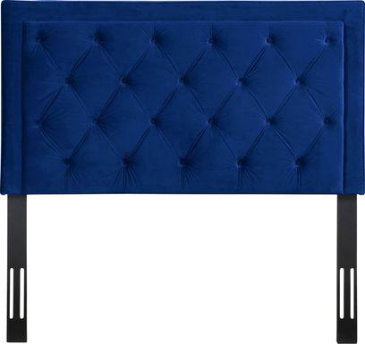 Clarette Navy Twin Upholstered Headboard