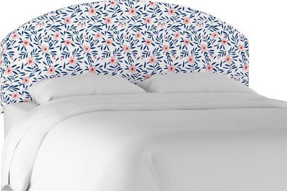 Clary Blue King Upholstered Headboard