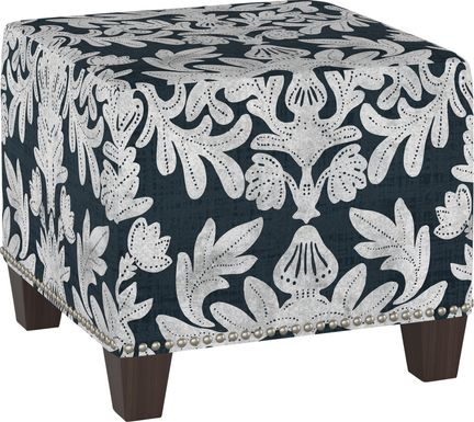 Classical Notes Blue Ottoman