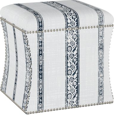 Classical Notes White-Gray Storage Ottoman
