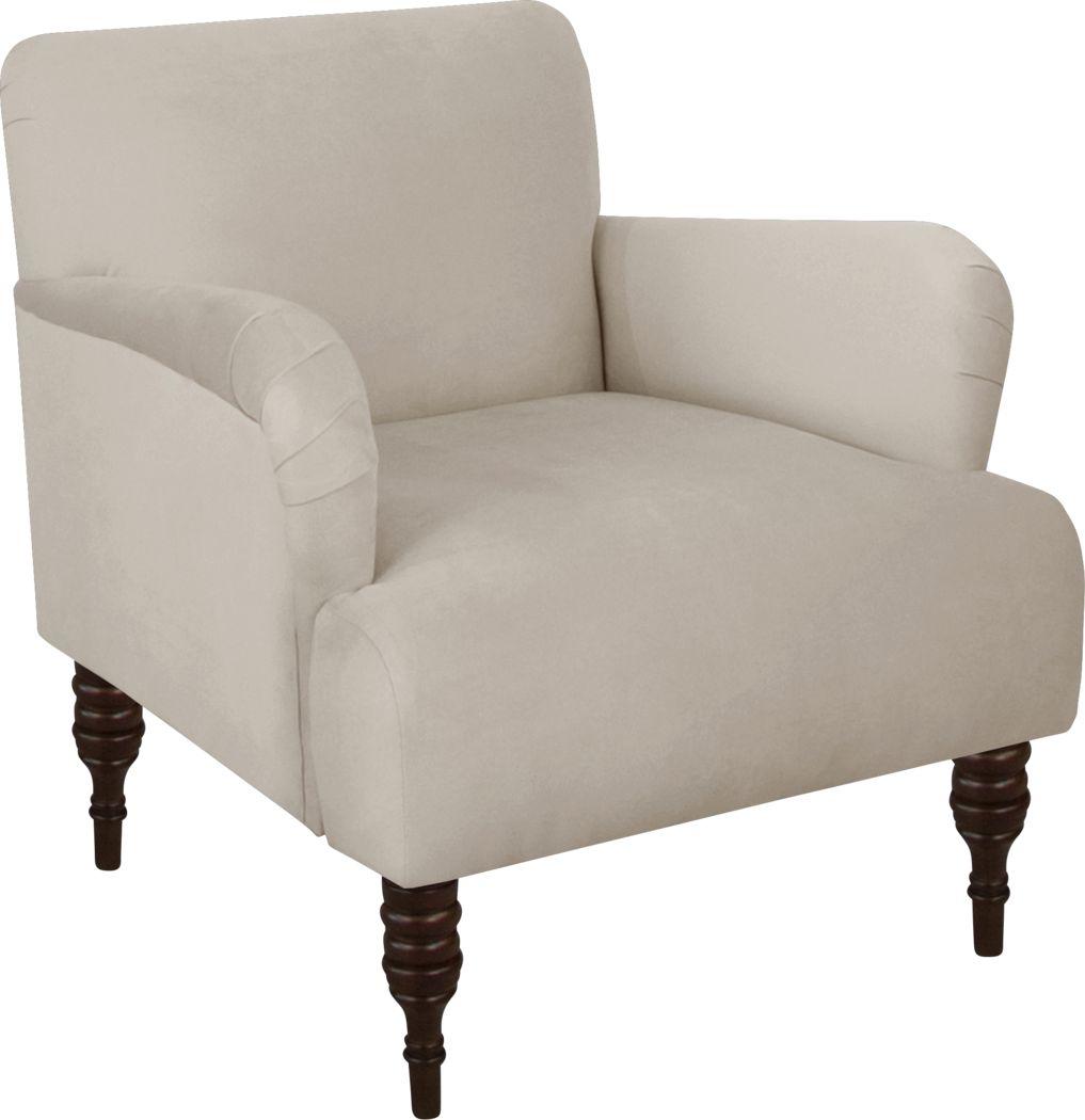 Classical Notes Platinum Accent Chair