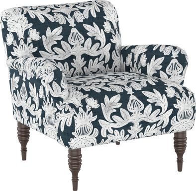 Classical Notes White-Gray Accent Chair