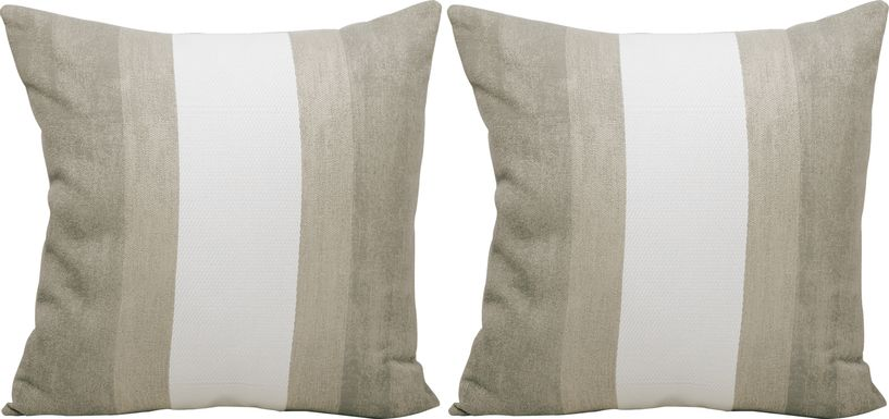 Madura Taupe Indoor/Outdoor Accent Pillow, Set of Two
