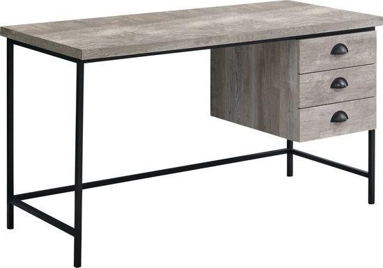 Claxton Taupe Desk
