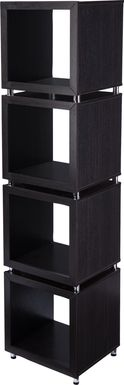 Claybrook Black Bookcase