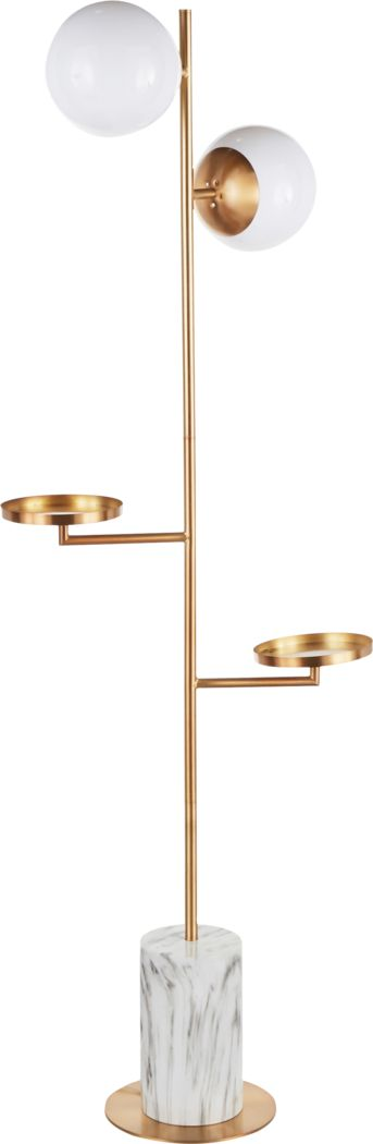 Cleburne Gold Floor Lamp