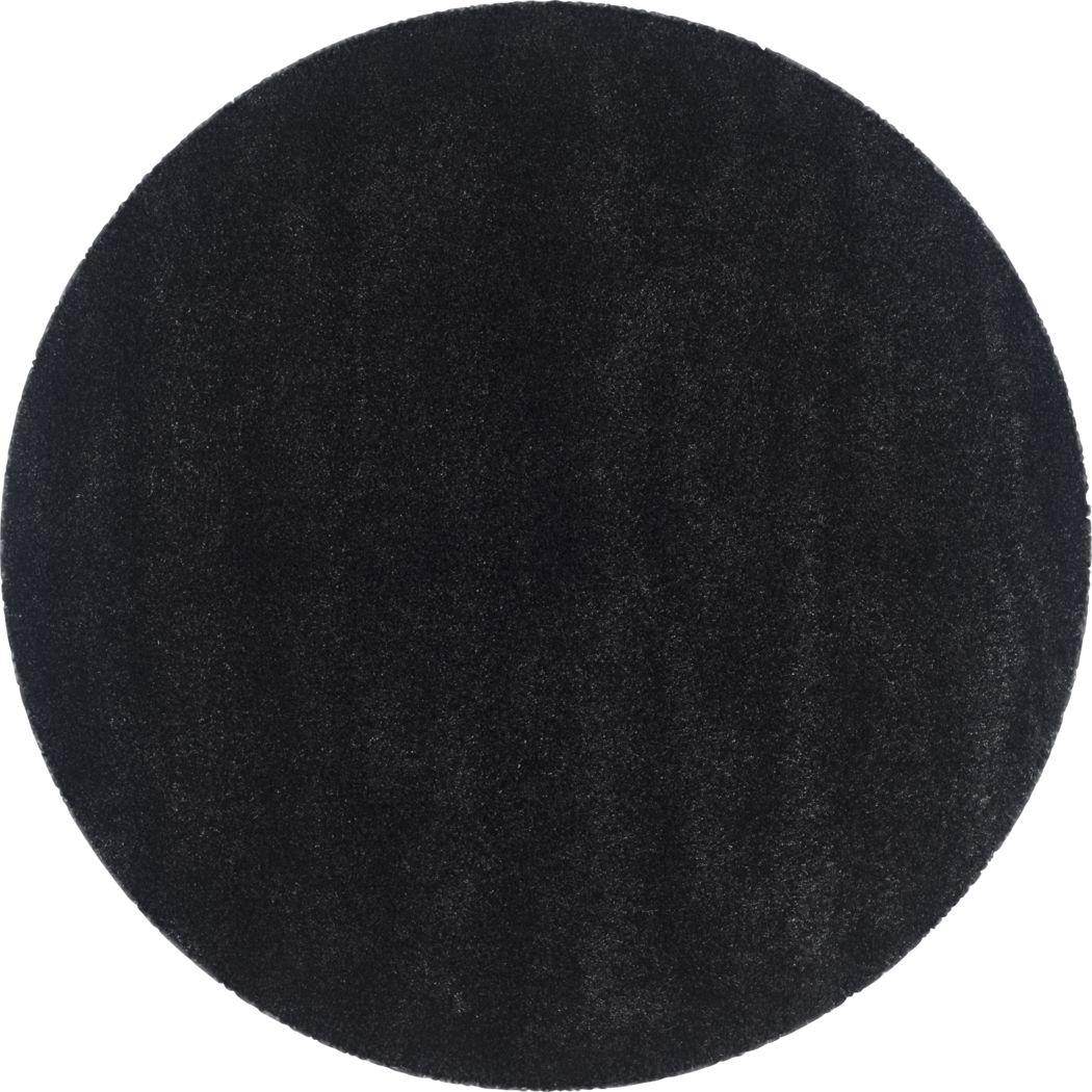 Cleona Black 4' Round Rug