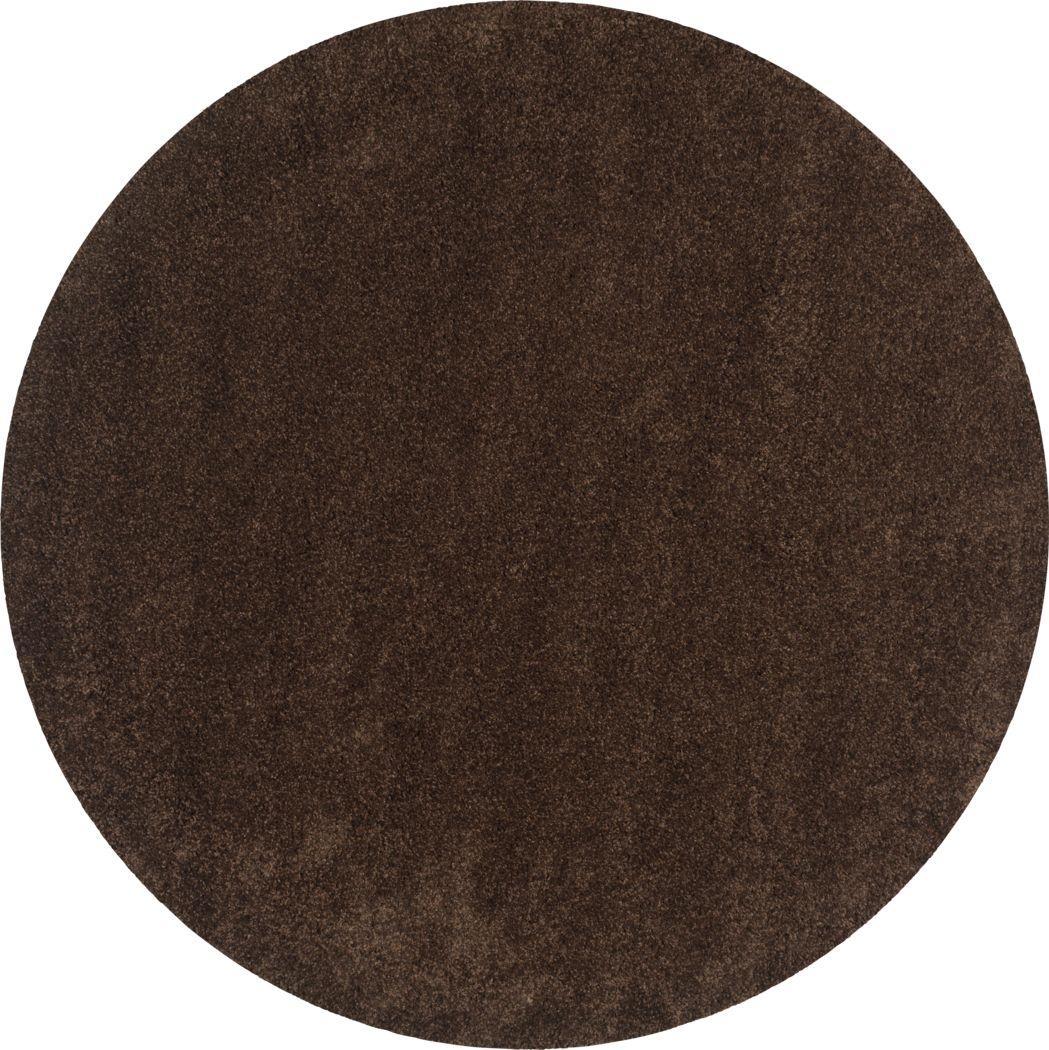 Cleona Brown 4' Round Rug
