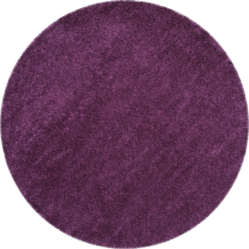Cleona Purple 4' Round Rug