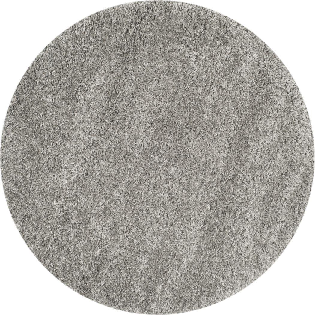 Cleona Silver 4' Round Rug