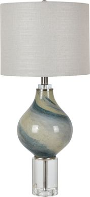 Cliff Lake Aqua Lamp