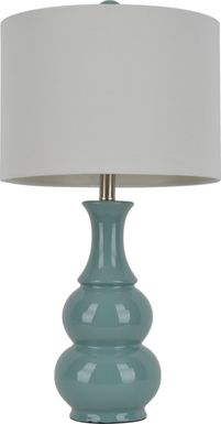 Cliffdale Green Lamp