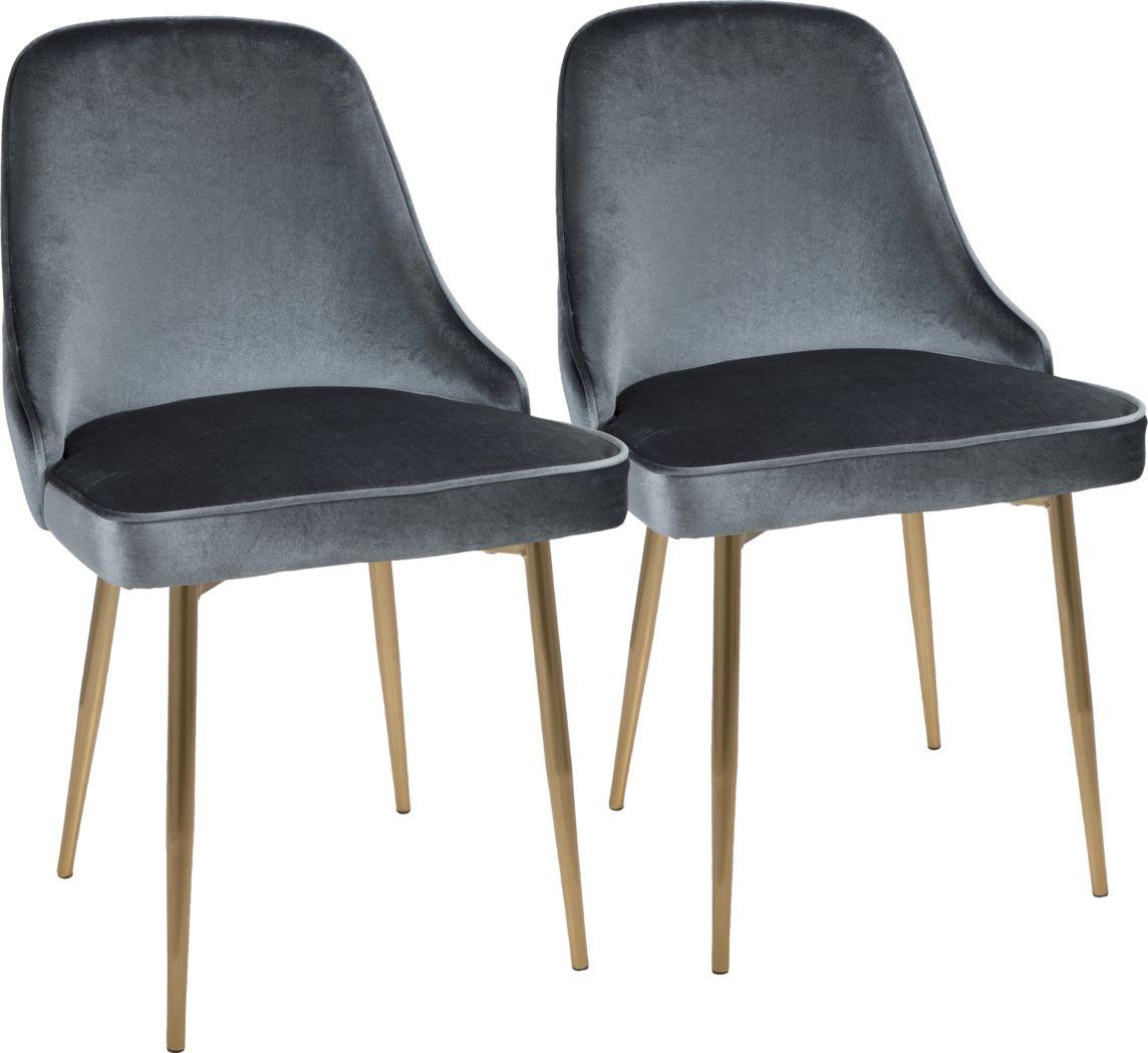 Clovis Blue Dining Chair, Set of 2