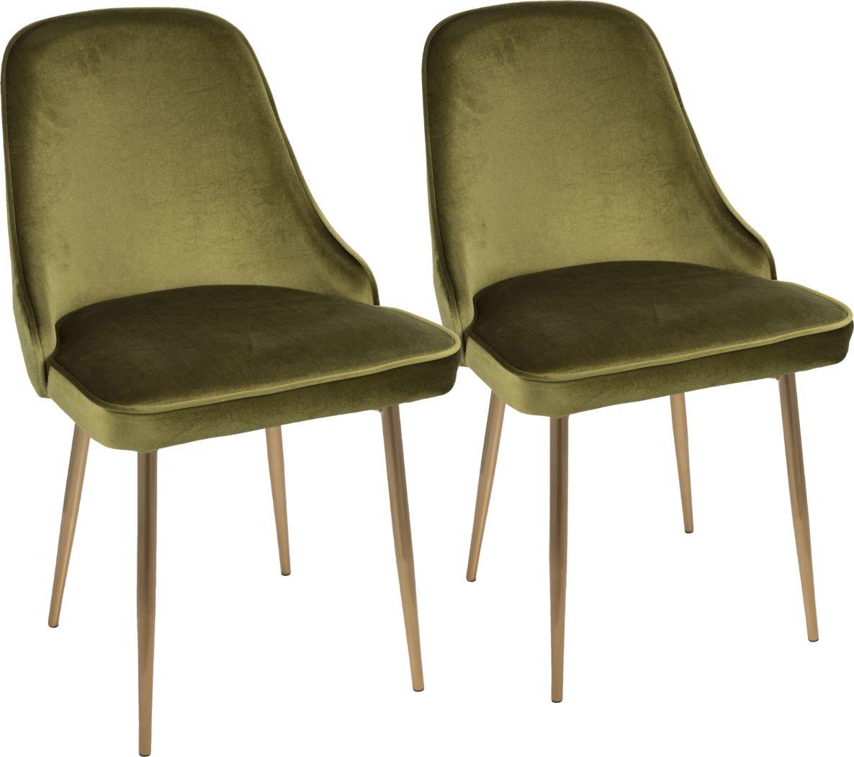 Clovis Green Dining Chair, Set of 2