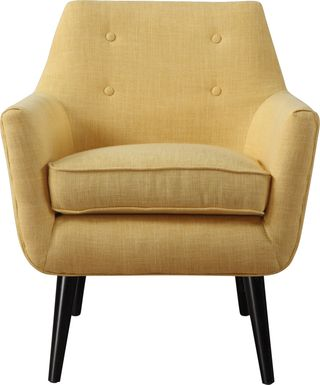 Clyde Yellow Accent Chair