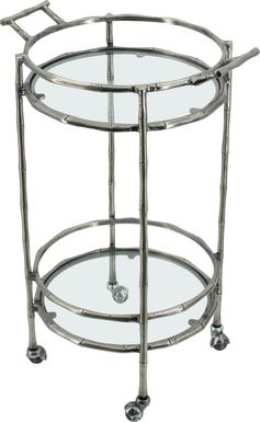 Coachlight Silver Bar Cart