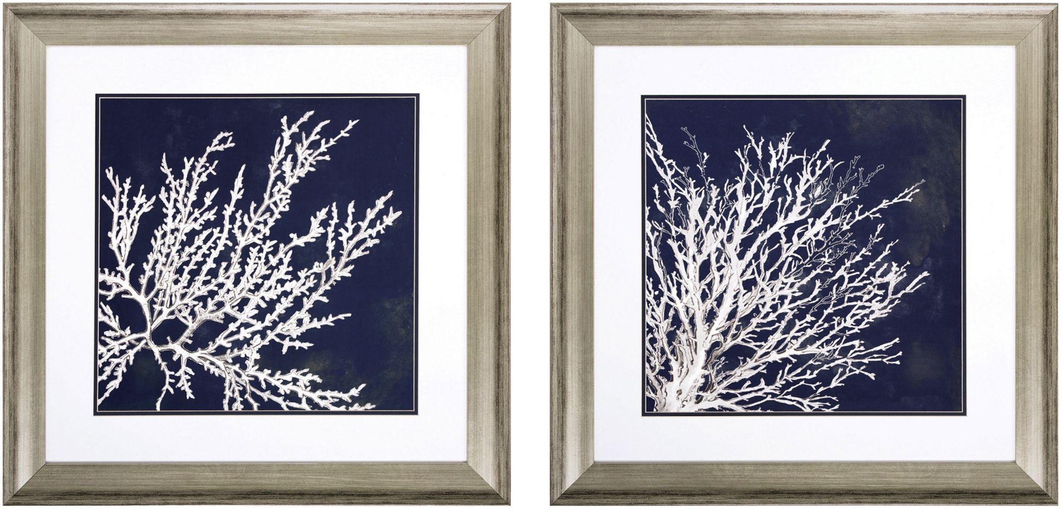 Coastal Coral Set of 2 Artwork