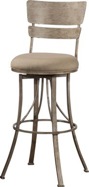Codell Champagne Outdoor Counter Height Stool