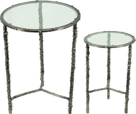 Colanade Silver Nesting Table, Set of 2