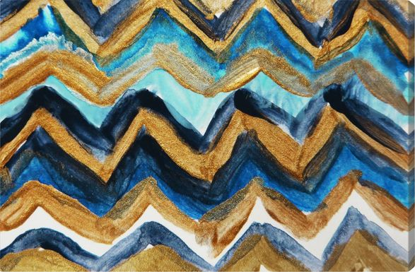 Cold Electric Waves Blue Artwork