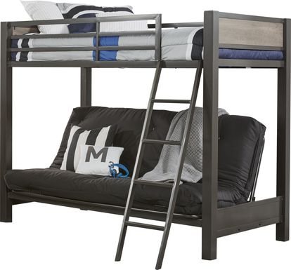 Colefax Avenue Gray Twin/Futon Loft Bed