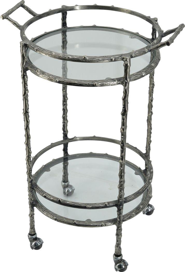 Collenback Silver Bar Cart