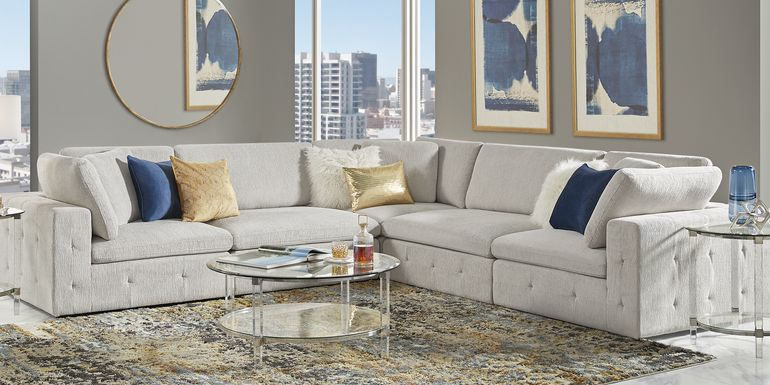 Collin Park Gray 5 Pc Sectional