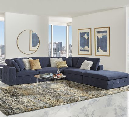 Collin Park Indigo 5 Pc Sectional