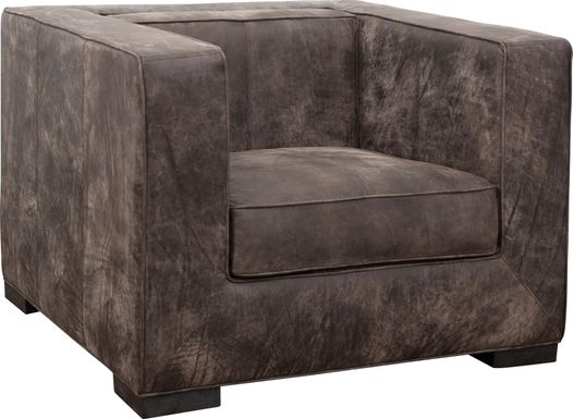 Collinwick Brown Leather Accent Chair
