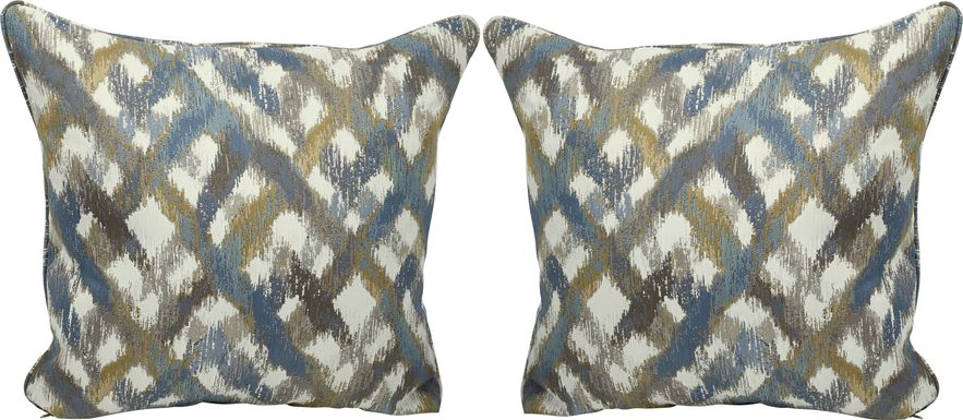 Color Splash Indigo Accent Pillows (Set of 2)